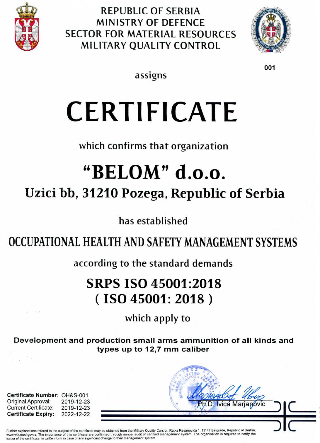 Belom OHS